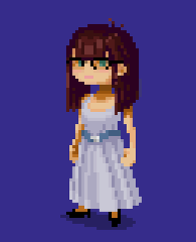 Sprite Portrait for the Girlfriend by Slange5