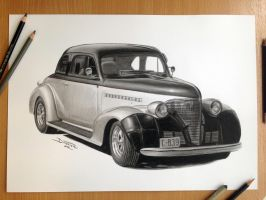 Car Pencil Drawing by AtomiccircuS