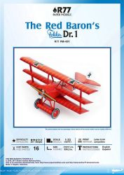Fokker Dr.1Paper Model -v 2.0 by Rubenandres77