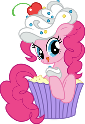 Pinkie Pie in a cupcake by CloudyGlow