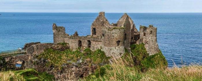 Dunluce Castle Panorama by suolasPhotography