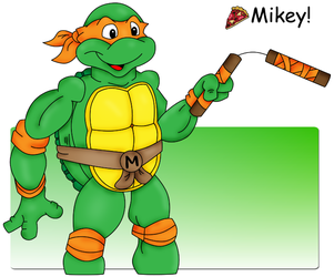 Mikey, old toon style by DrawingMelee