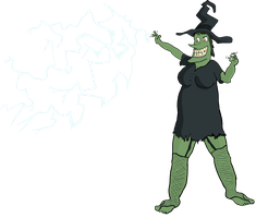 This Wicked Witch Casts a Lightning Bolt by Vigorousjammer