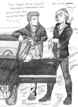 Dean meets Jace by chrysalisgrey