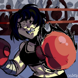 punch them out the ring by lovebby