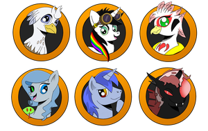 Brony Badge set 7 by DBurch01