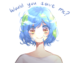 Earth-Chan by Sweetmeloday
