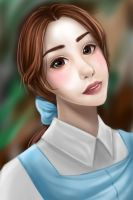 Portrait of Belle from Beauty and the Beast by MikaLinCow