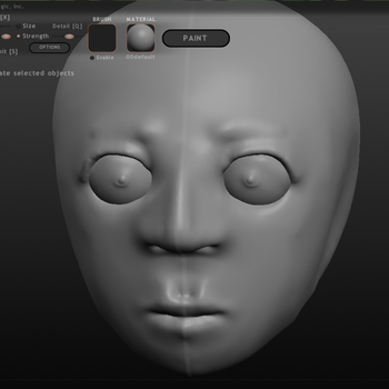 Sculpting a 3D head by GoofySquid