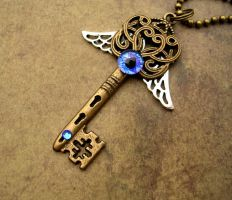 Custom Steampunk Key for Lord Dave by LadyPirotessa