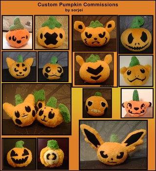 Character of Your Choice Pumpkin Commissions by sorjei