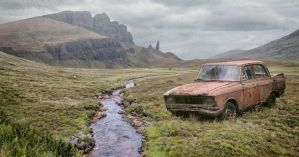 Abandoned Car.. by AledJonesStockNArt