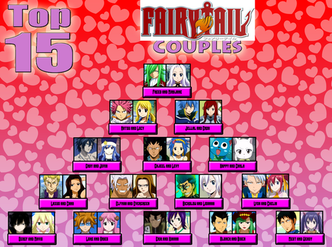 My Top Fifteen Fairy Tail Couples by Lady-Zaeliea