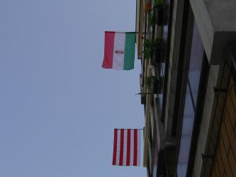 Two of the National Flag finally on the balcony 1 by Wakko2010