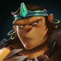 Dungeon Defenders Barbarian Portrait by DanielAraya