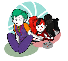lego Joker and Harley Gal Pals 4 life by NeverisMe