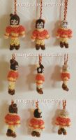 Airbender Babies Crochet Keychains by musogato