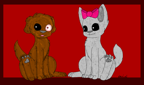 :.:Poochee and Pansy:.: by KarsiTheDog