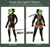 Draw This Again - Shygal Alexa (Before and After) by ZER0GEO