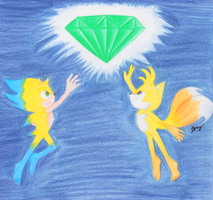 Super Sonic and Super Tails by TeruuBerry