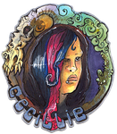 ConBadge art::Cecillie by BonePileStudio