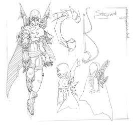 Shepard Reference Lineart 01 by mrSketchy