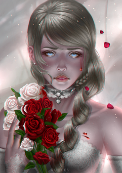 Every rose has it's thorn by Aoleev