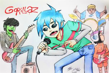 The Gorillaz by amanda040