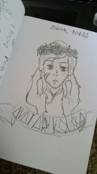 Avatar Korra with a Floral Crown by theodoubleto