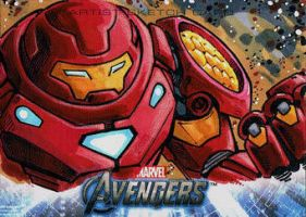Avengers Sketch Card by KidNotorious