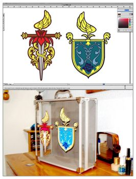 Capulet and Montague crests by Yanita
