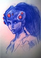 Widowmaker sketch by LesDessinsDeYann