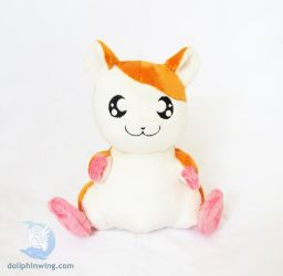 Hamtaro Inspired Plush (Pattern available) by dollphinwing