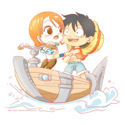 OP: Nami n Luffy in the clouds by Mary-McGregor