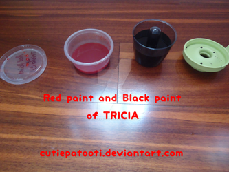 Black and Red Homemade Paint by cutiepatooti