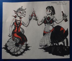Inktober Day 1 ''Poisonous'' by Nellyandsmilerlover
