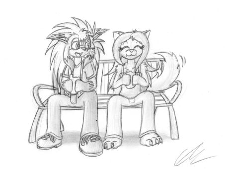 Euan and Syl eating subs by EUAN-THE-ECHIDHOG