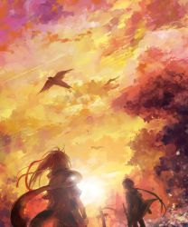 Coming-and-going sky by kandasama