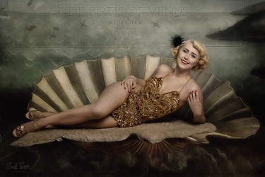 The birth of venus -vintage showgirl style- no.2 by snottling1