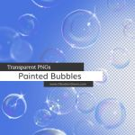 Hand Painted Bubbles Transparent PNGs by redheadstock