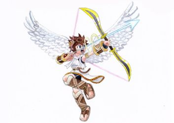 Treythornton19 17 7 Pit From Kid Icarus Watercolor By Hammytheewok