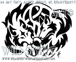Knotwork Wolf Lovers Tattoo by WildSpiritWolf