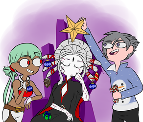 Grimmsmas Decorating by JumpinJammies