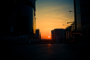 Grand Rapids At Sunset 1 by BreAnn