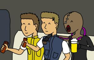 Resident Evil - Beer friends by Yeti112