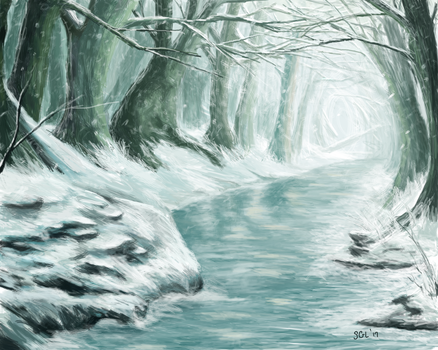 Frozen Forest Stream by sgl17