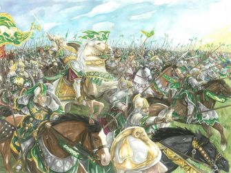 The Ride of the Rohirrim by AbePapakhian