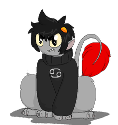 Pawfeet Karkat by wolf-wishes