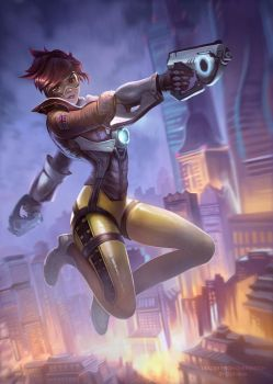 Tracer from Overwatch by DziKawa