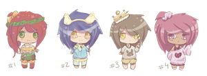 .collab | chibi girls | paypal and points | OPEN by SadisticFarts